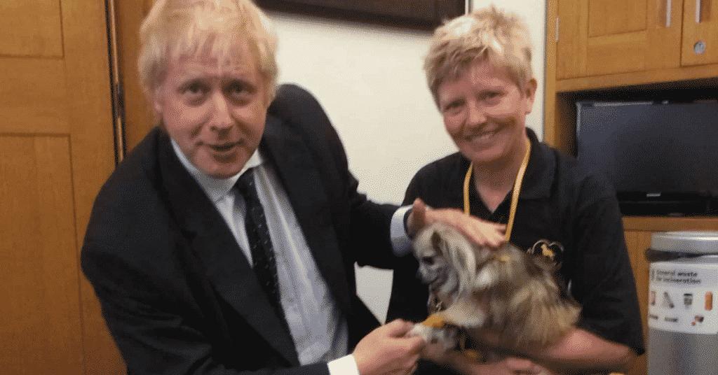 Harry Potter with PM Boris Johnson