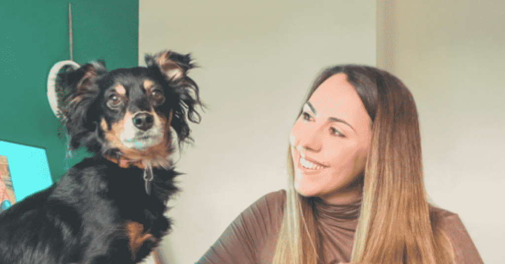 Rico the Rescue Dog and Rachel his owner