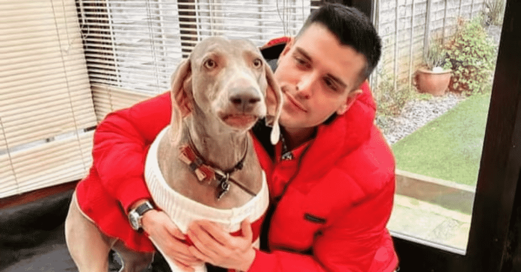 Jordan and his dog Jasmine who inspired a campaign for a new ;aw to allow a pet in every home